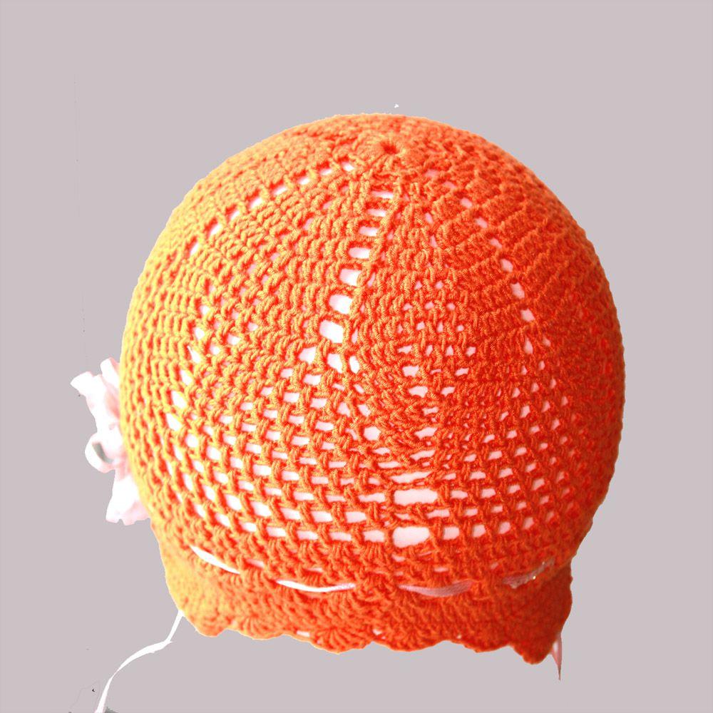 мягкая атласной лентой ушек оранжевая цветком стрейч защитой девочки аксессуары ручная детские для детям шапки продажа купить шапочка работа с