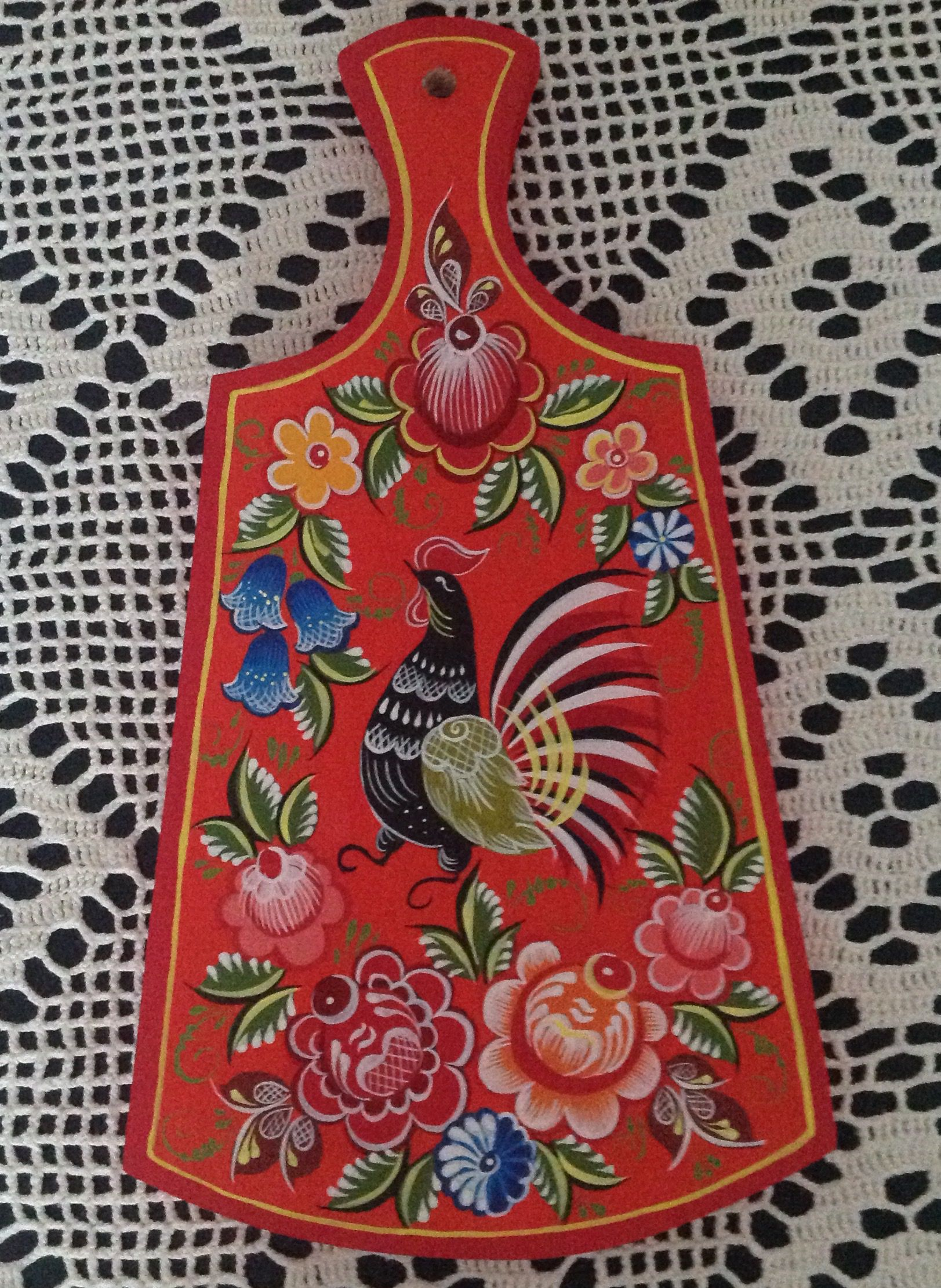 русскийсувенир березовая городецкая русский год новыйгод петуха сувенир роспись доска разделочная дерево подарок подарокженщине
