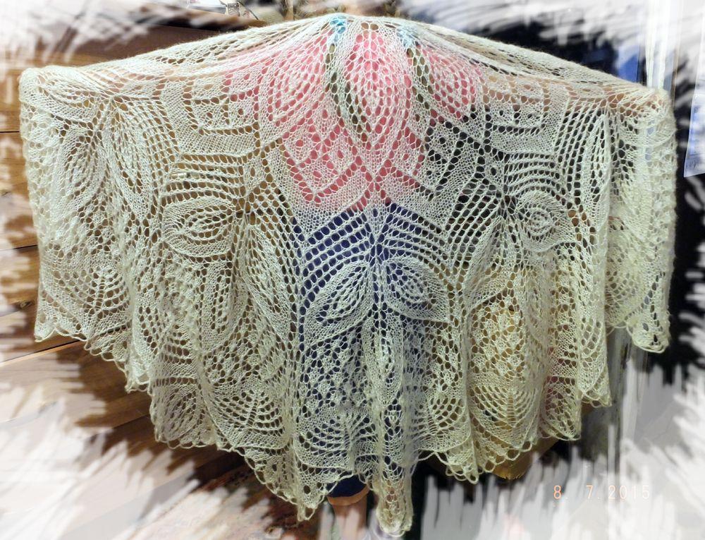 одежда вязание платье шаль подарок