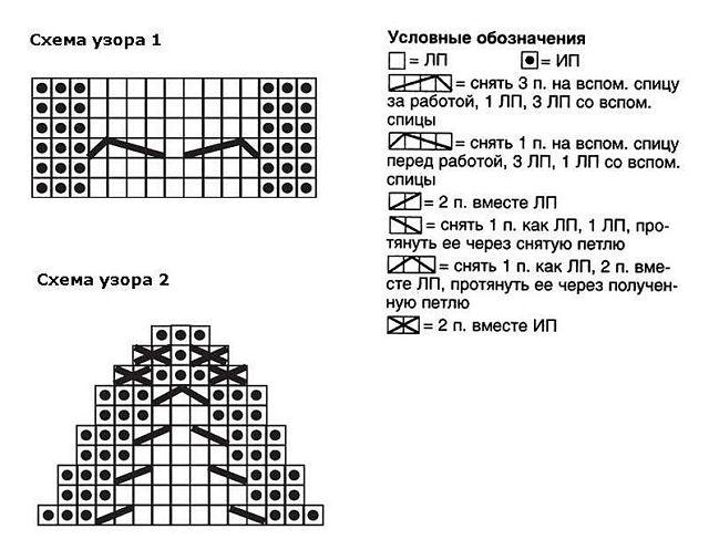 Вязание тапочек спицами 7