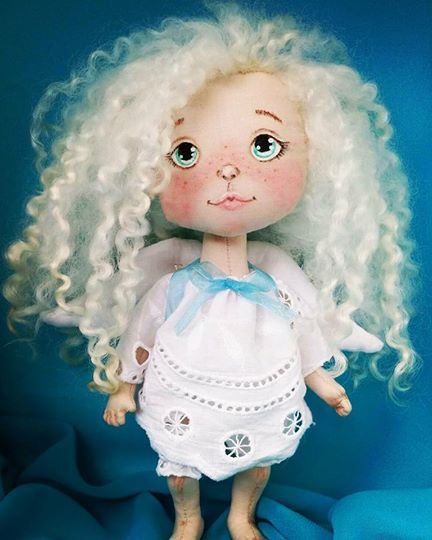 текстильная кукла подарок авторская