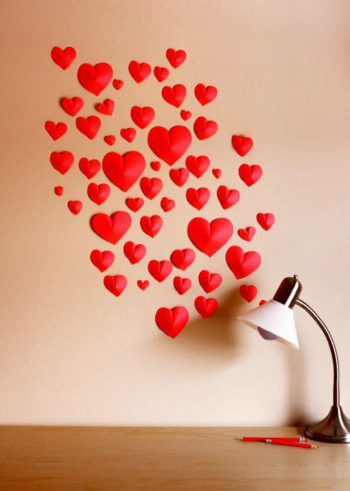 Сердечки из бумаги 1