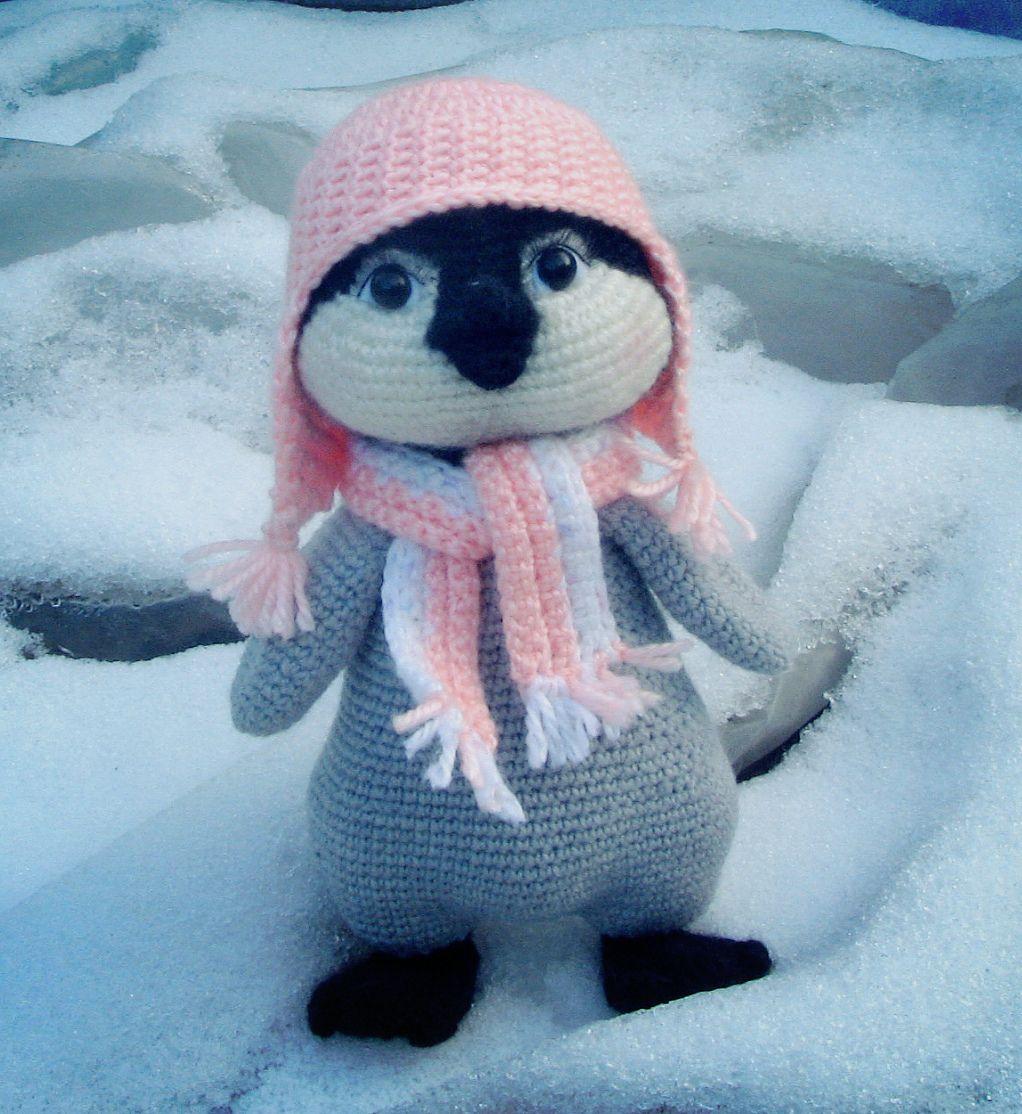 подарок игрушка амигуруми пингвин дети