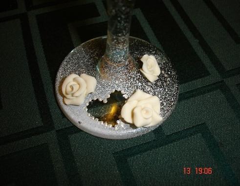 Свадебные бокалы своими руками 6