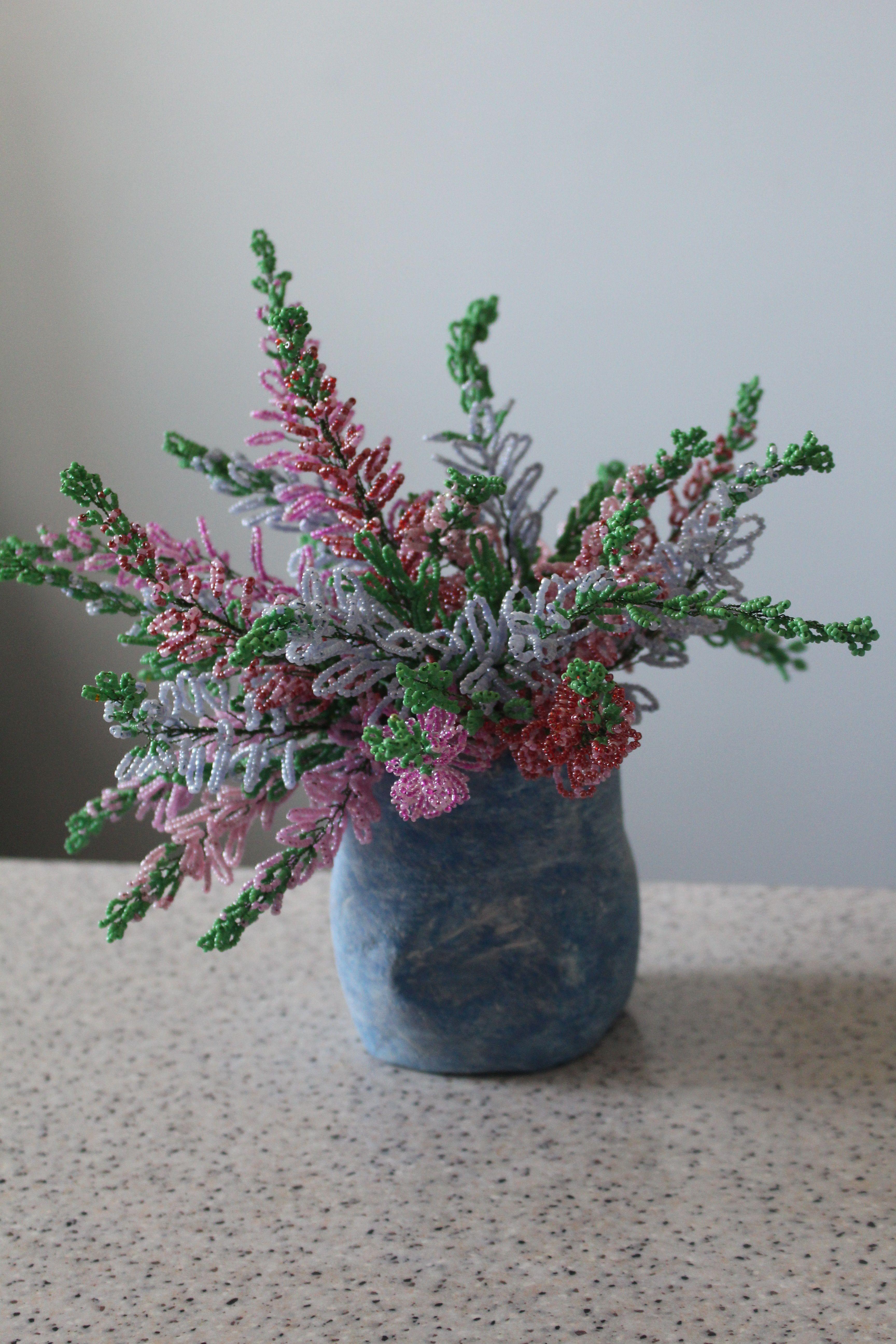 цветы интерьере деревья ручна работа бисер