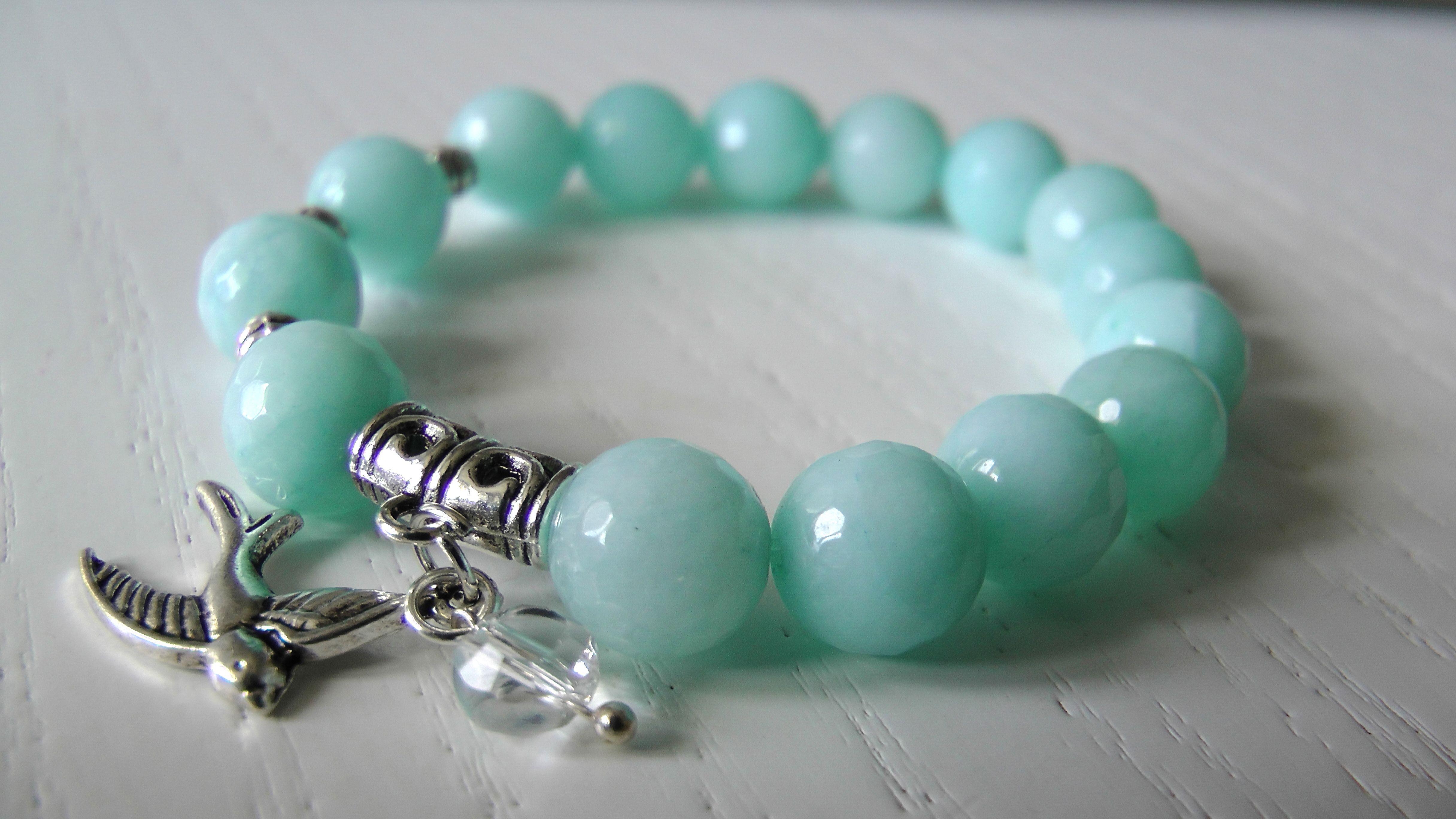 амазонит киеве браслет в купить натуральные камни голубой
