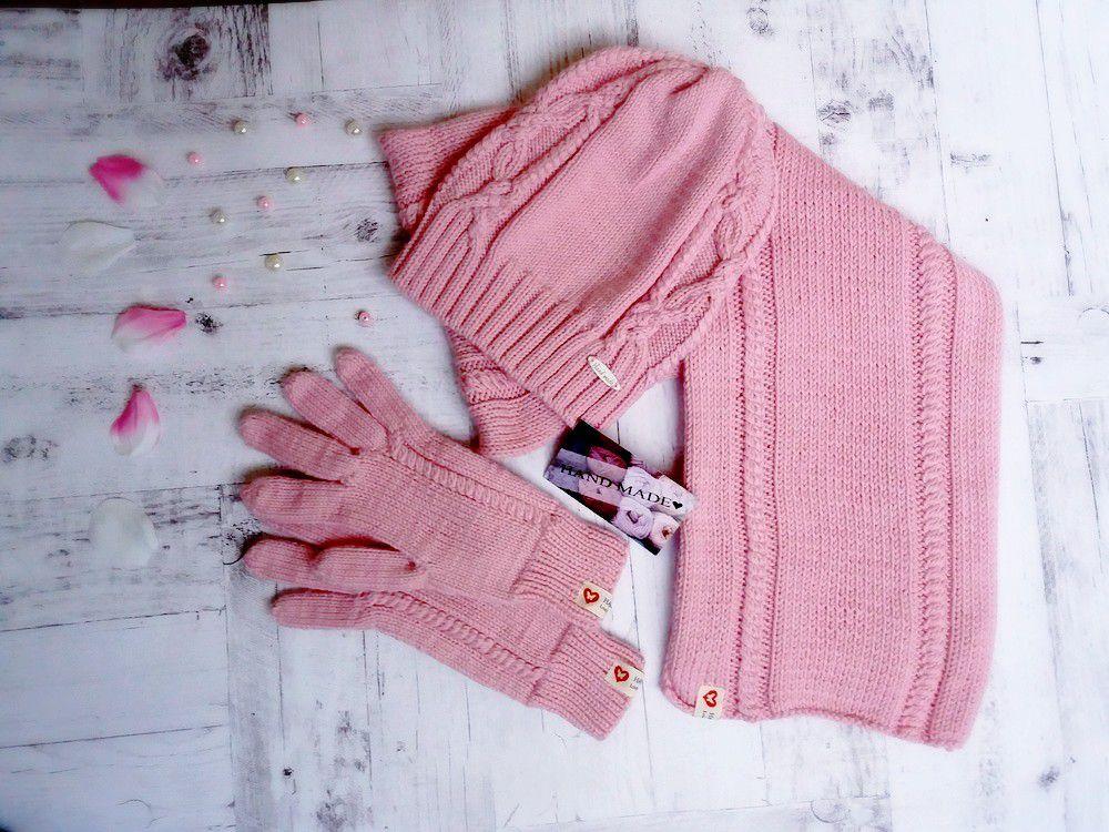 длядевушек мода вязание дляженщин комплект стиль шапка перчатки одежда назаказ шарф спицами