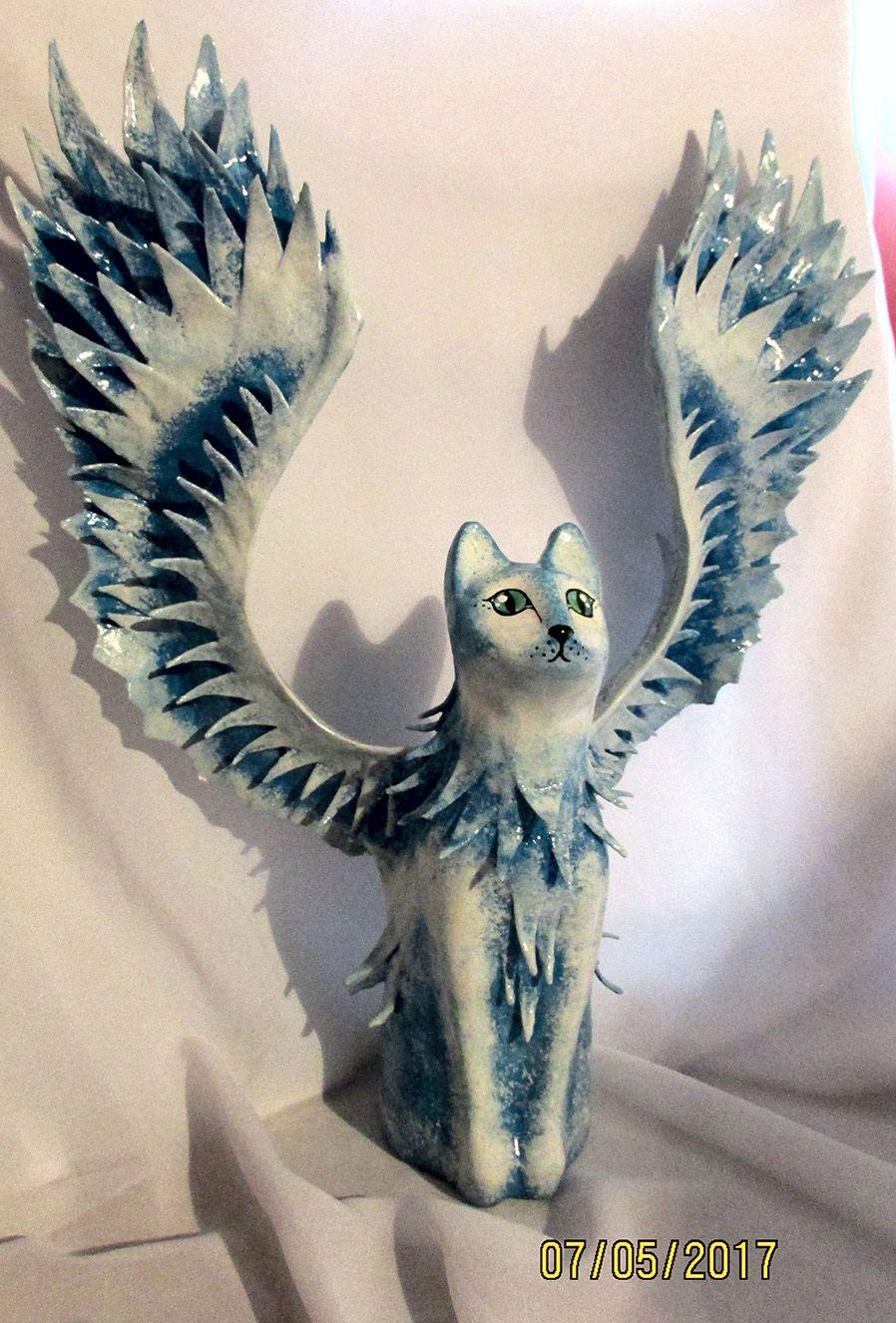 статуэтка ангел кот подарок
