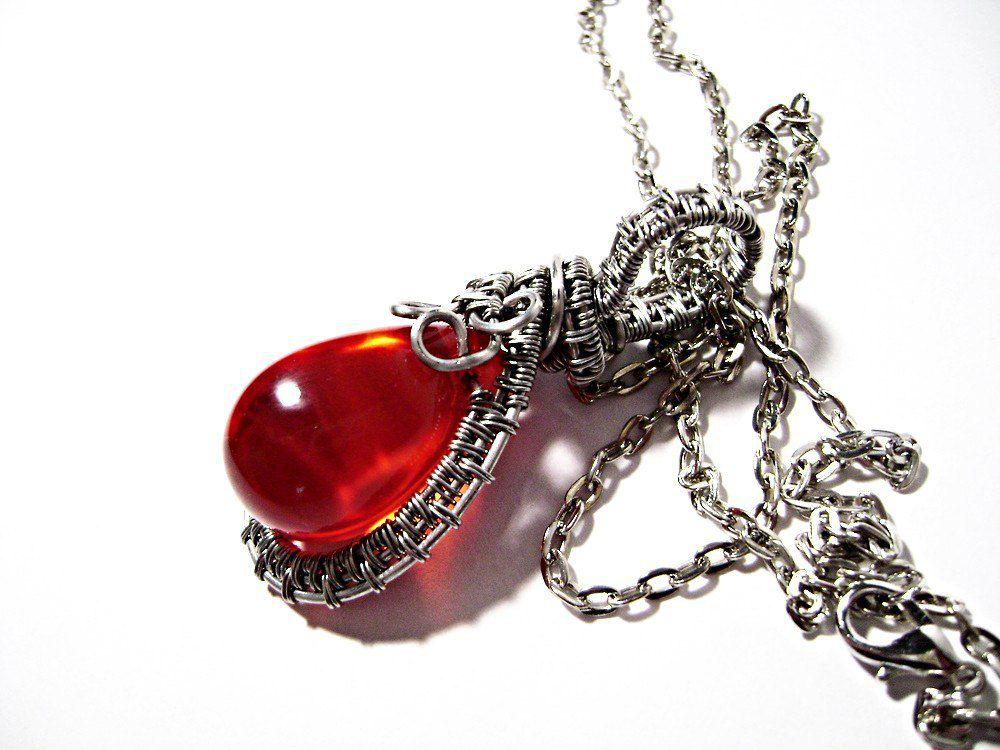 кулон авторская купить для бижутерия красный wrap wire женщины девушки подарок
