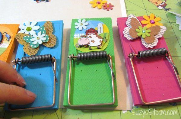 дома переработкаподелки мышеловки магнитные холдеры клипы ключницы для поделки органайзер из идеи сделай сам