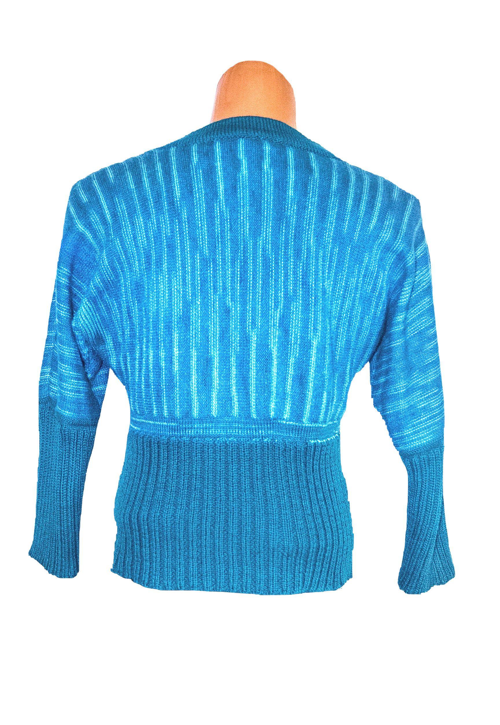на волна вязание полоску морская женский заказ вязаный машинное в джемпер