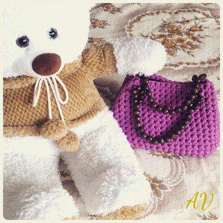 сумкаручнойработы вязанаясумка оригинальныйподарок сумка вяжуназаказ девушке подарок
