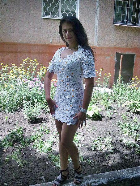 кружево крючок вязание ирландское платье продам