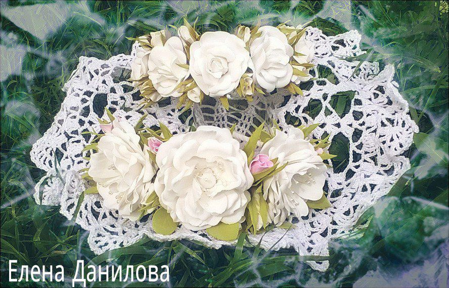 цветочный с ободок для цветами волос аксессуры украшения невесты