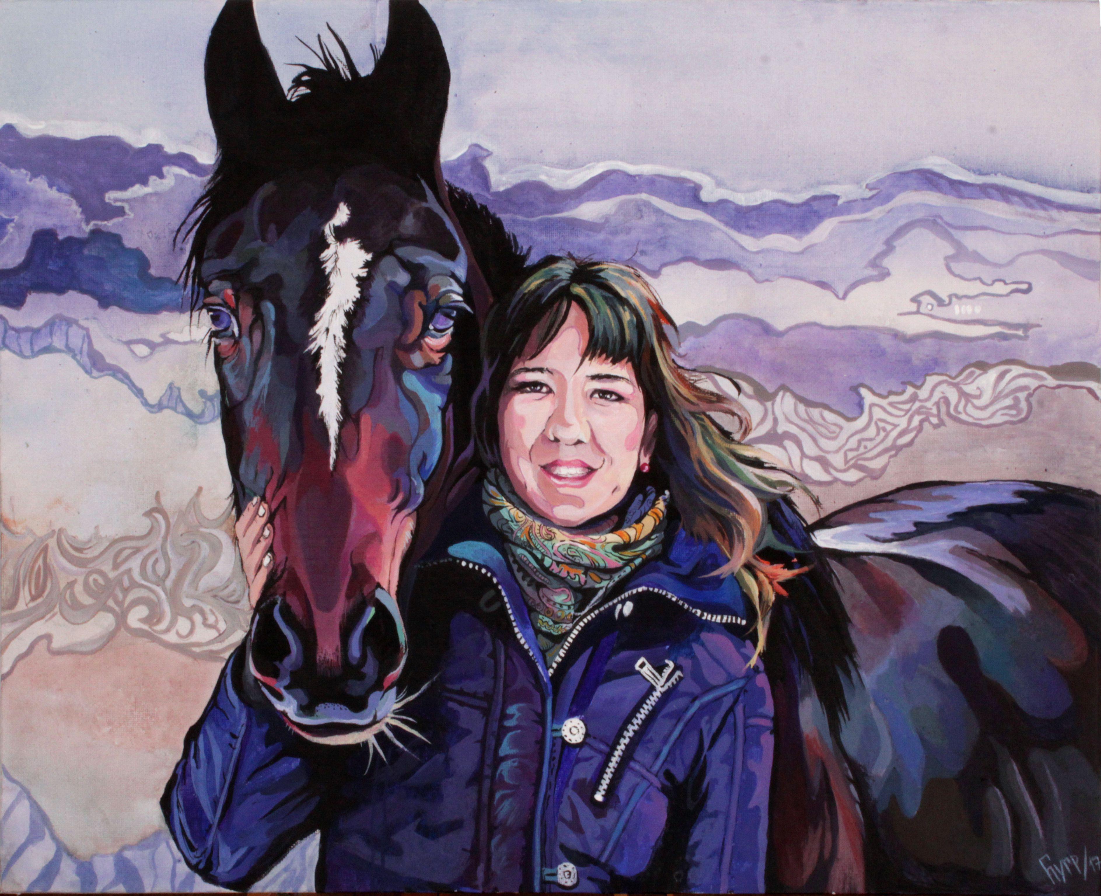 лошадьми конник на мечта портрет с заказ девушка друг лучший лошади радость портреты