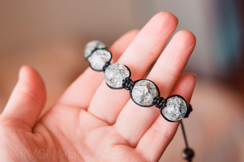 браслет шамбала стеклянныебусины украшения стекло бижутерия