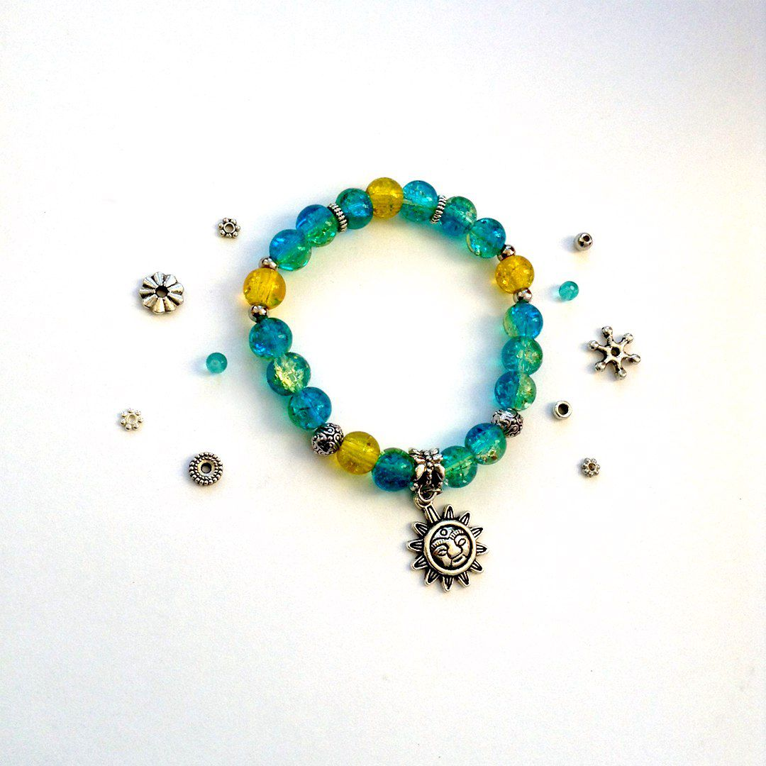 спандекс бусины украшение браслет handmade бижутерия
