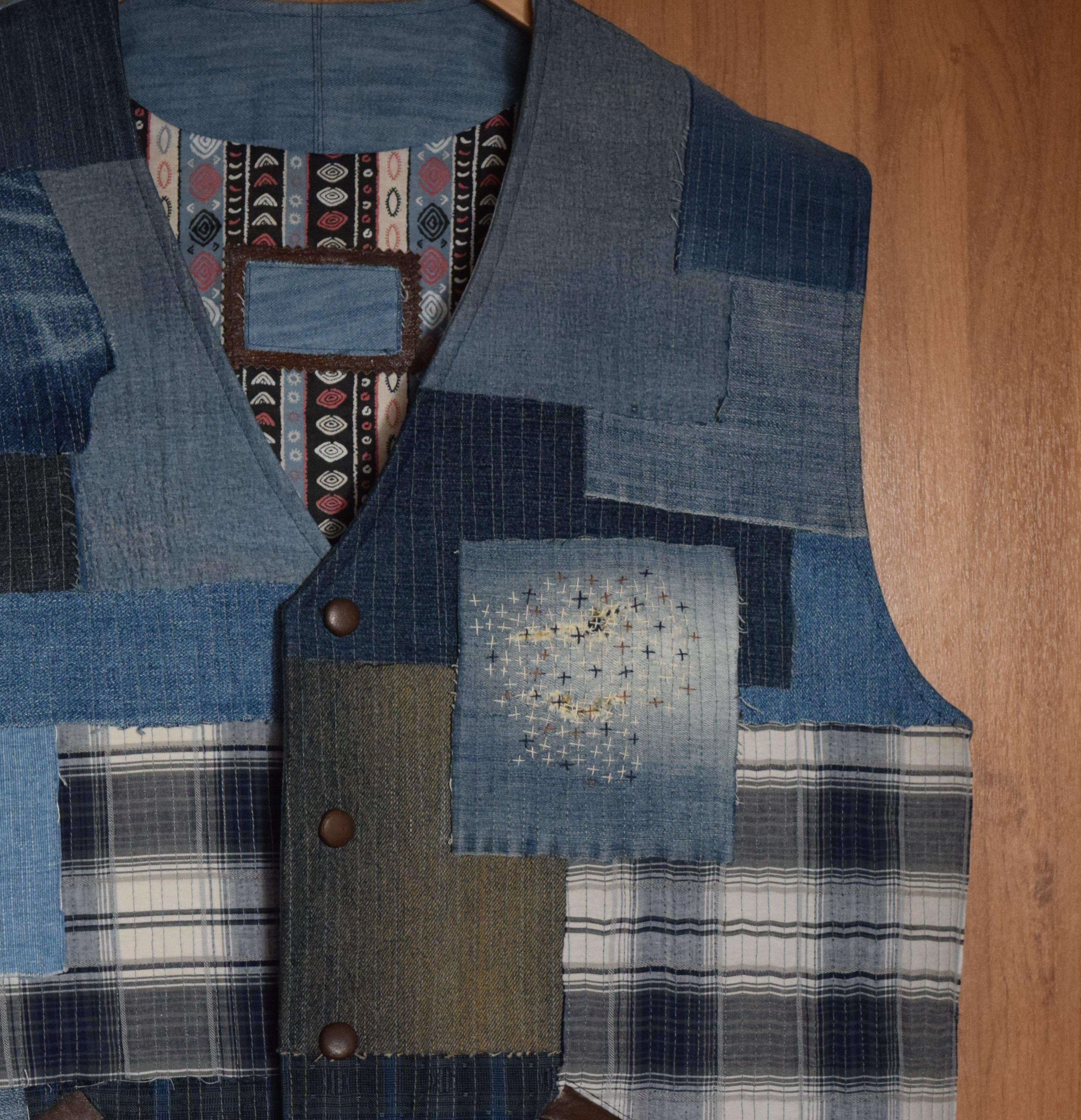 мужскойодежда мода кожа джинс кэжуал стиль креатив жилет hendmade купить своимируками