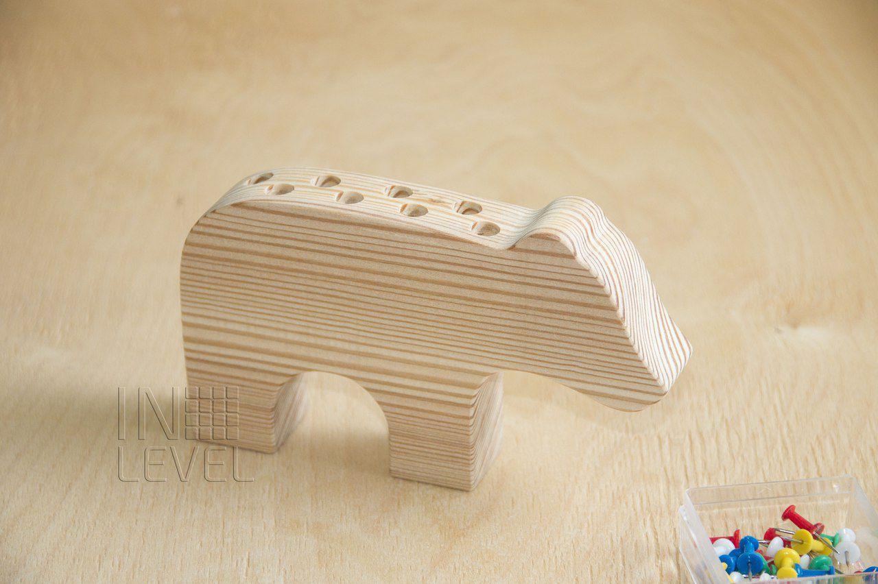 держатель медведь мишка миша канцелярия подставка для органайзер офис ручек деревянный канцелярские офисный школьный карандашей