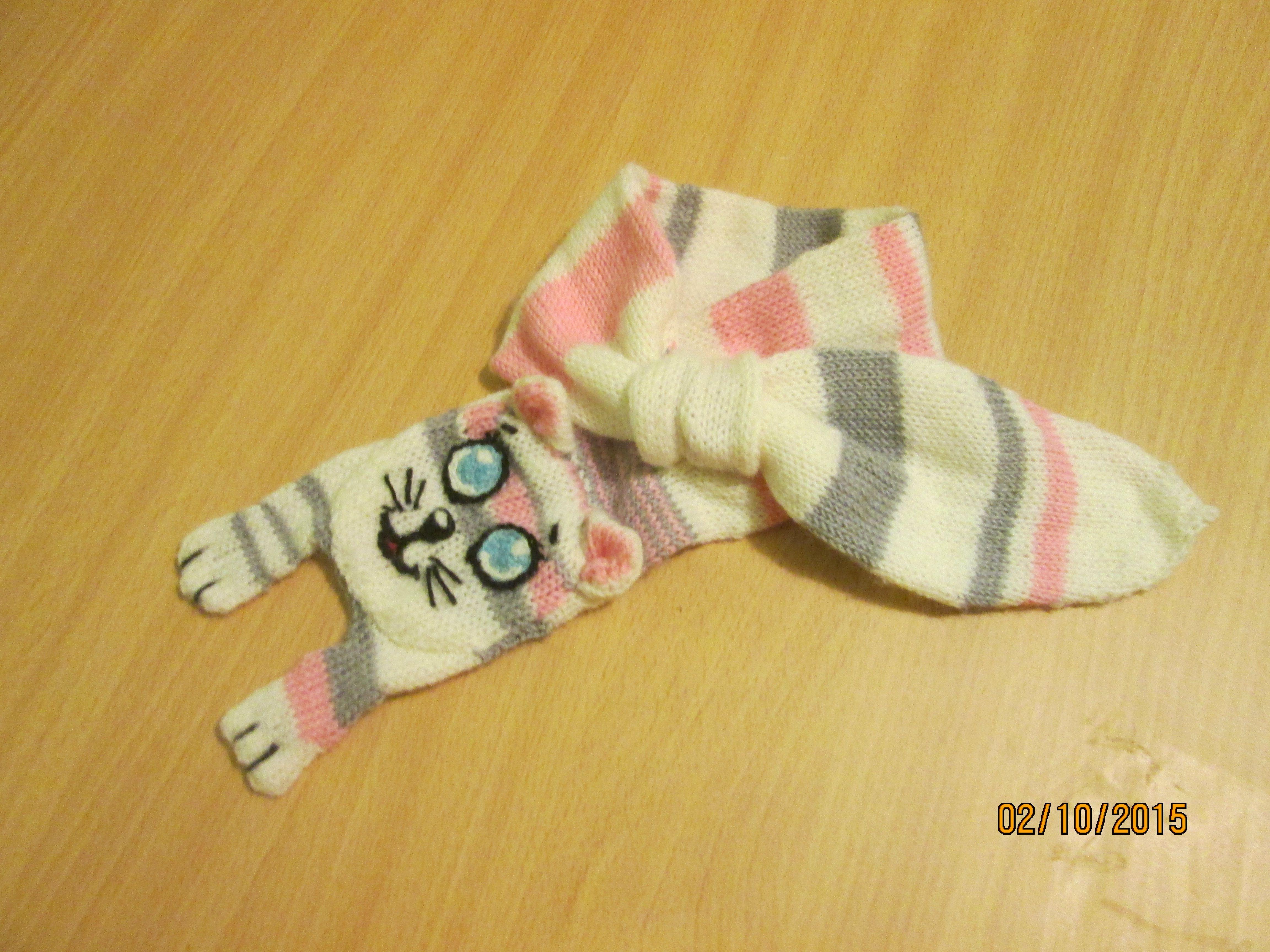 оригинальный шарф котошарфик детский котошарф теплый. шарф-котенок зимний