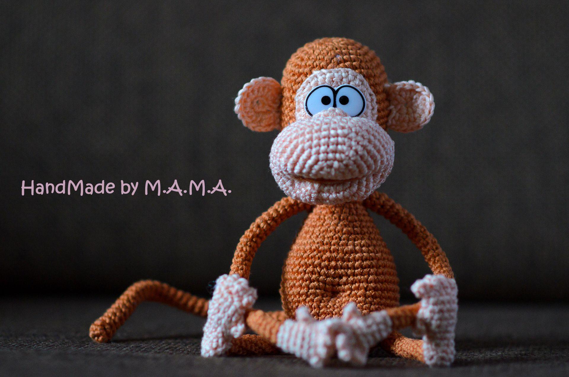 2016 года новогоднее игрушка амигуруми обезьянка символ
