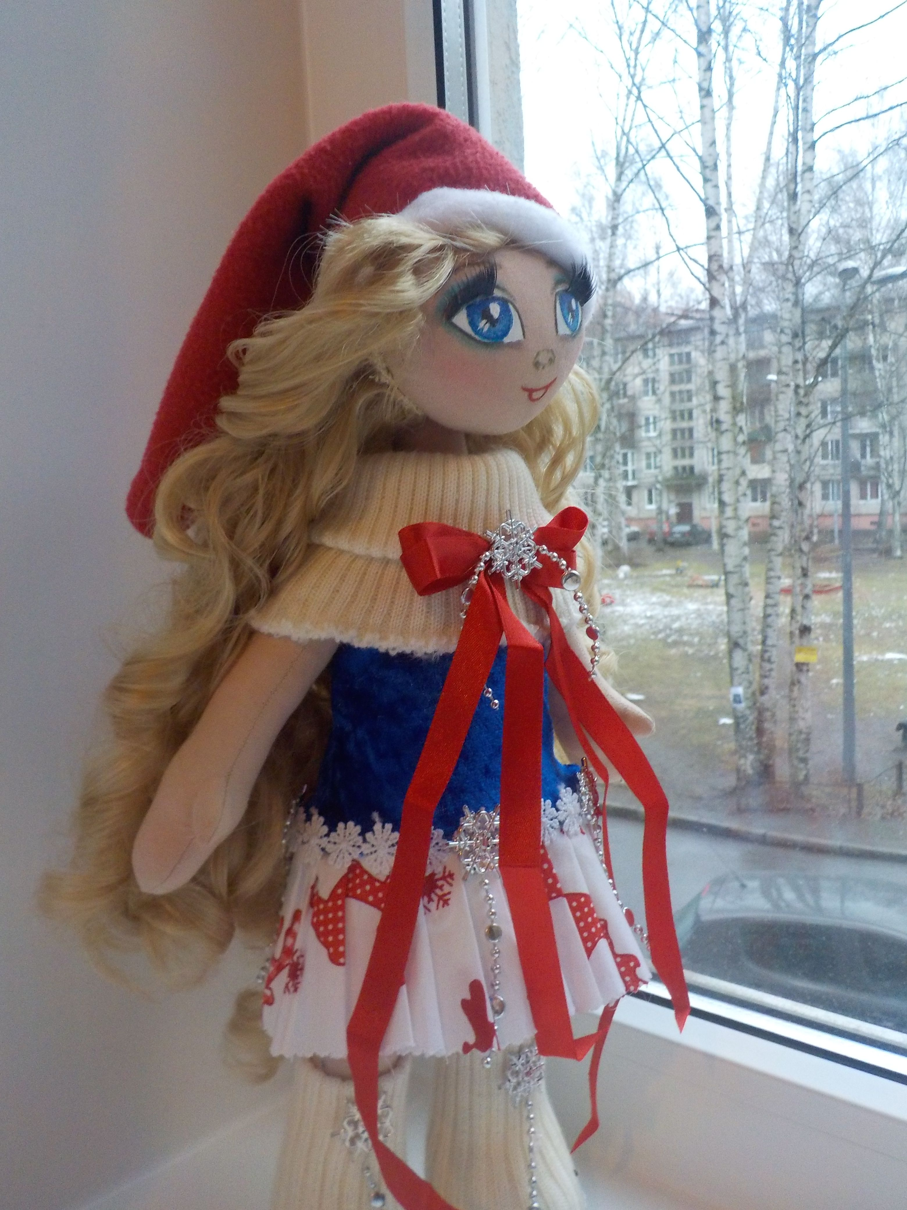 лента ручной работы атласная hand-made игрушки кукла новый куклы хлопок интерьерная в новогодние рождество на год текстильная подарок