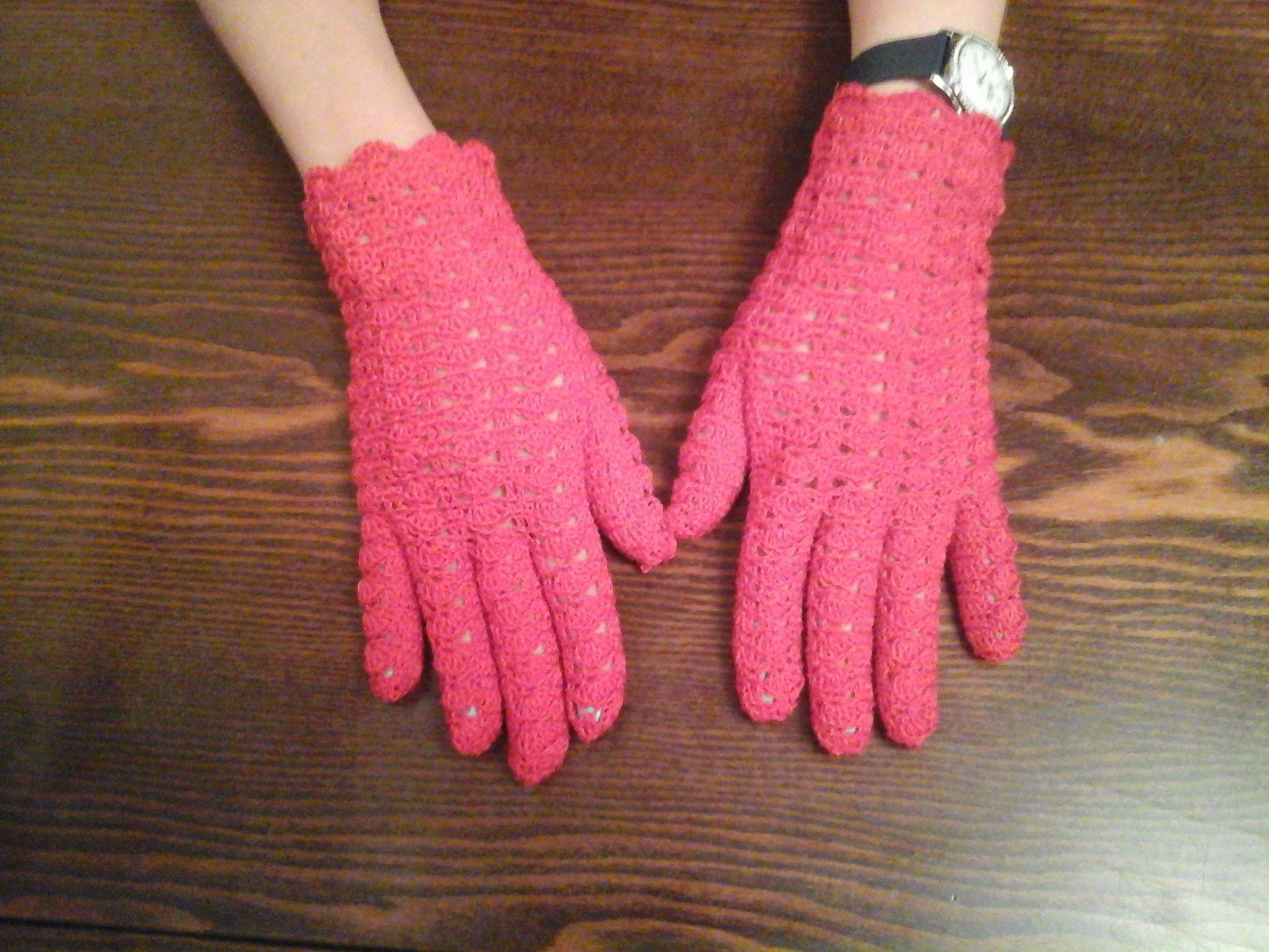 handmade вязание крючком перчатки ручная работа аксессуары