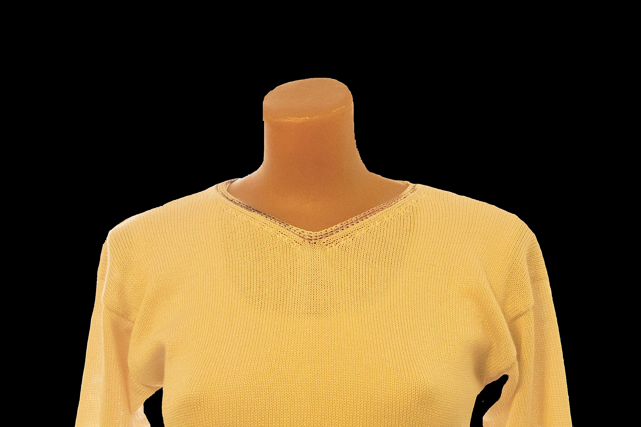 джемпер вязаный свитер женский бежевый авторский полувер дизайн