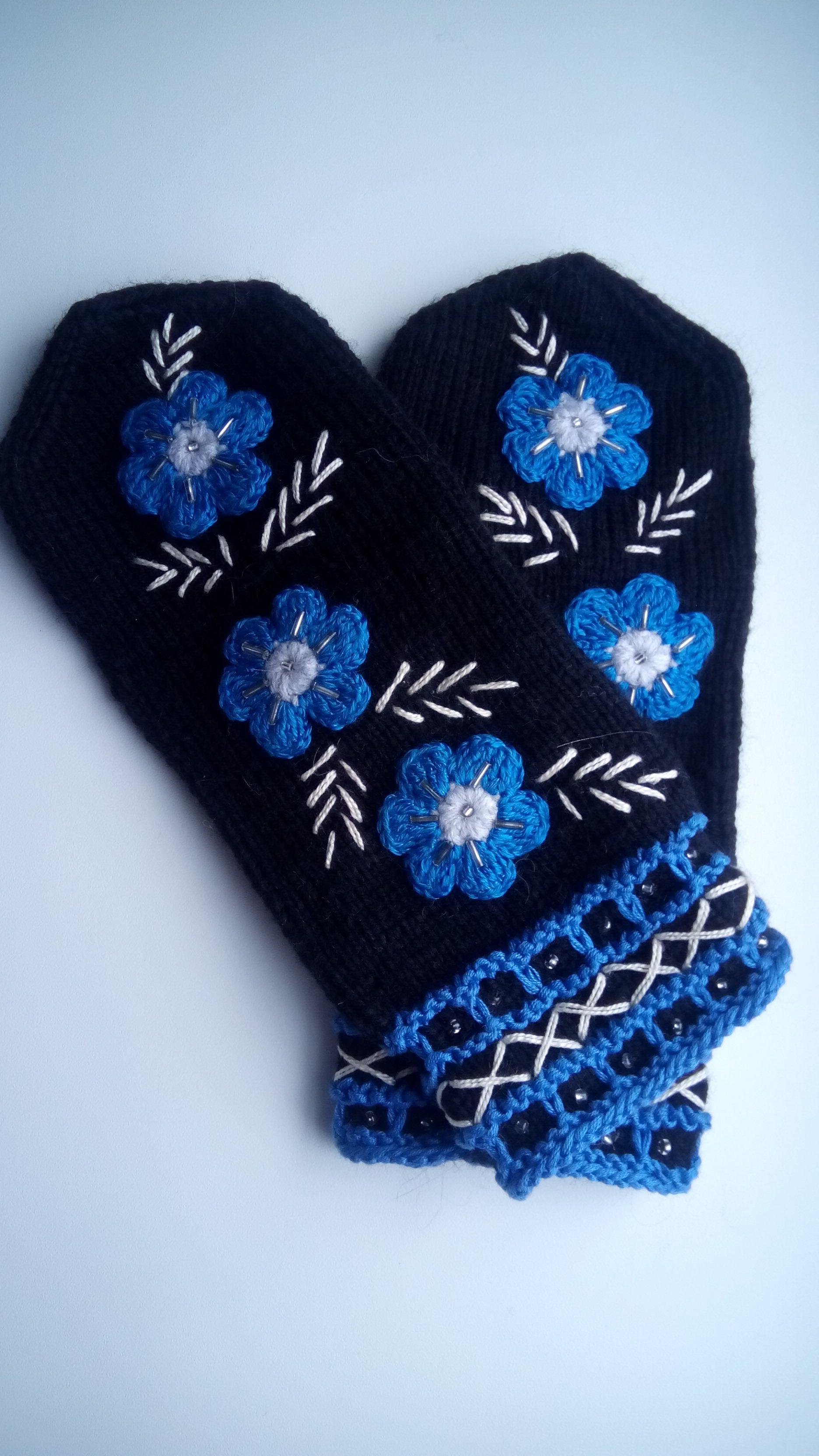 подарок спицы вязание варежки