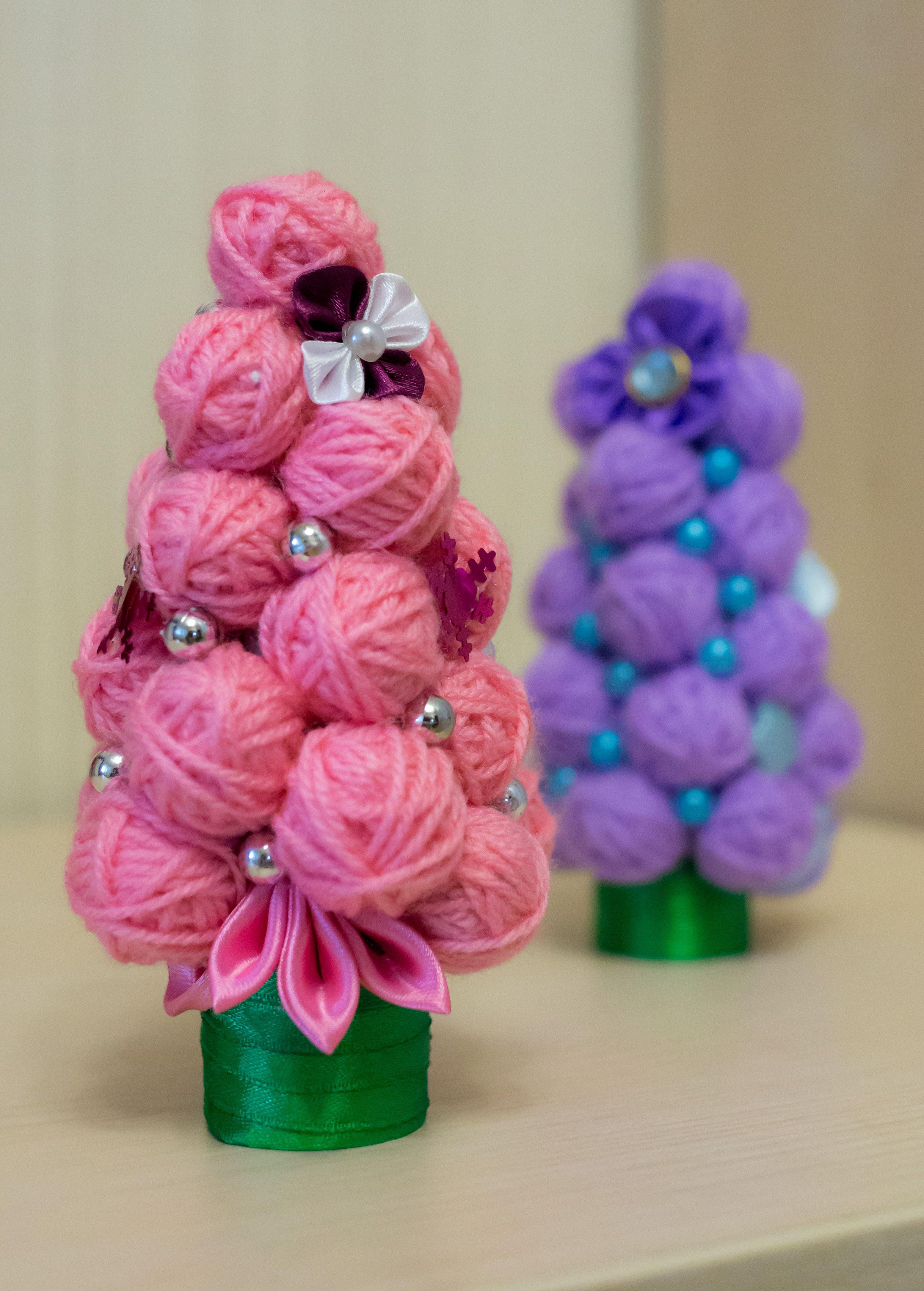 елочка хэнд-мейд бусинки творчество нитки подарок красивые