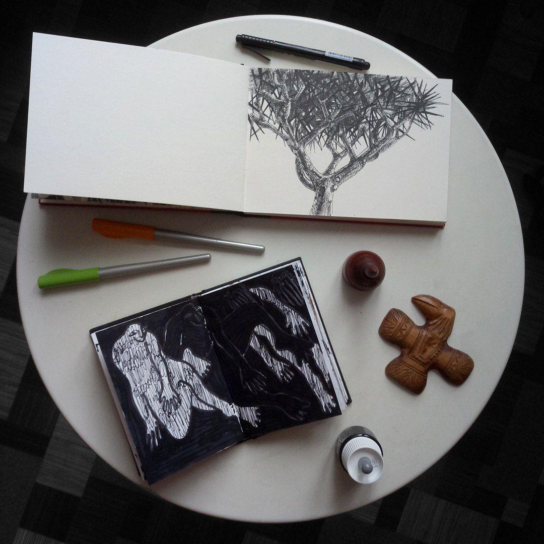 блокнот художники уроки рисунок мастеркласс рисование
