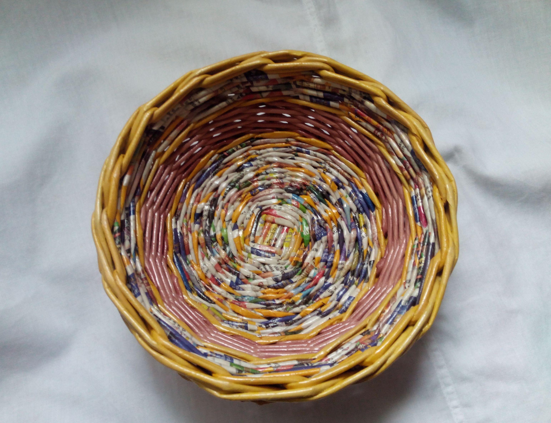газетная лоза трубочек посуда газетных и дома тарелки утварь блюда подарки изделия декоративная для оригинальные кухня интерьер из бумажные кухонная плетеные