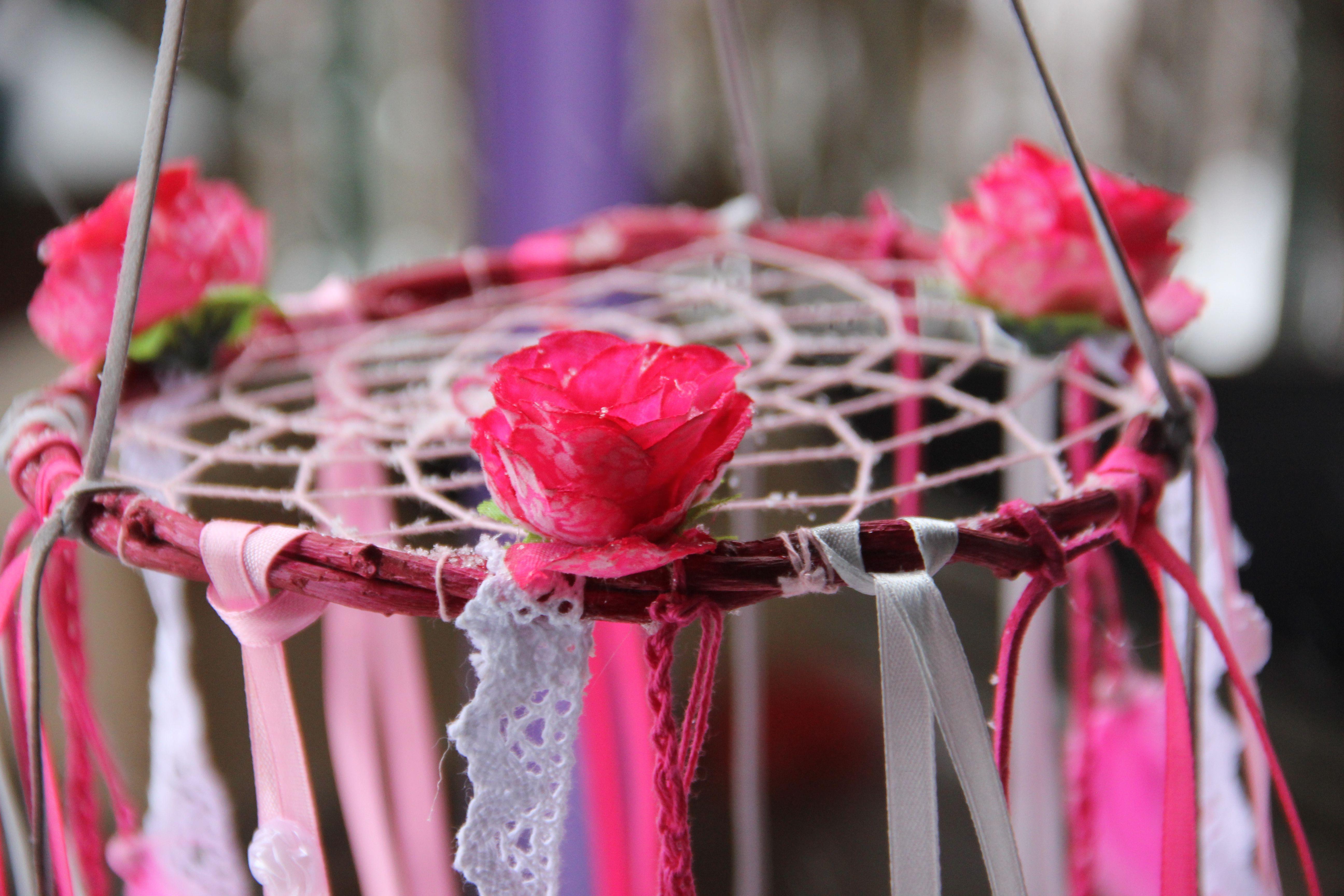 цветы розовый снов ловец подарок
