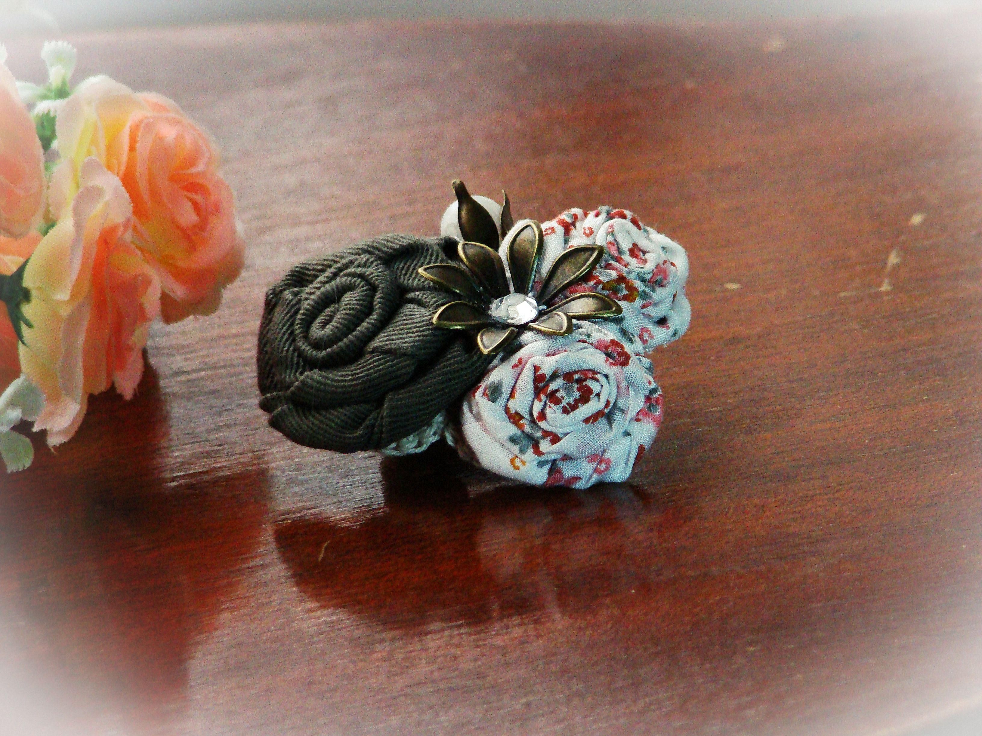 руками авторская работа украшение брошь цветок текстильная своими