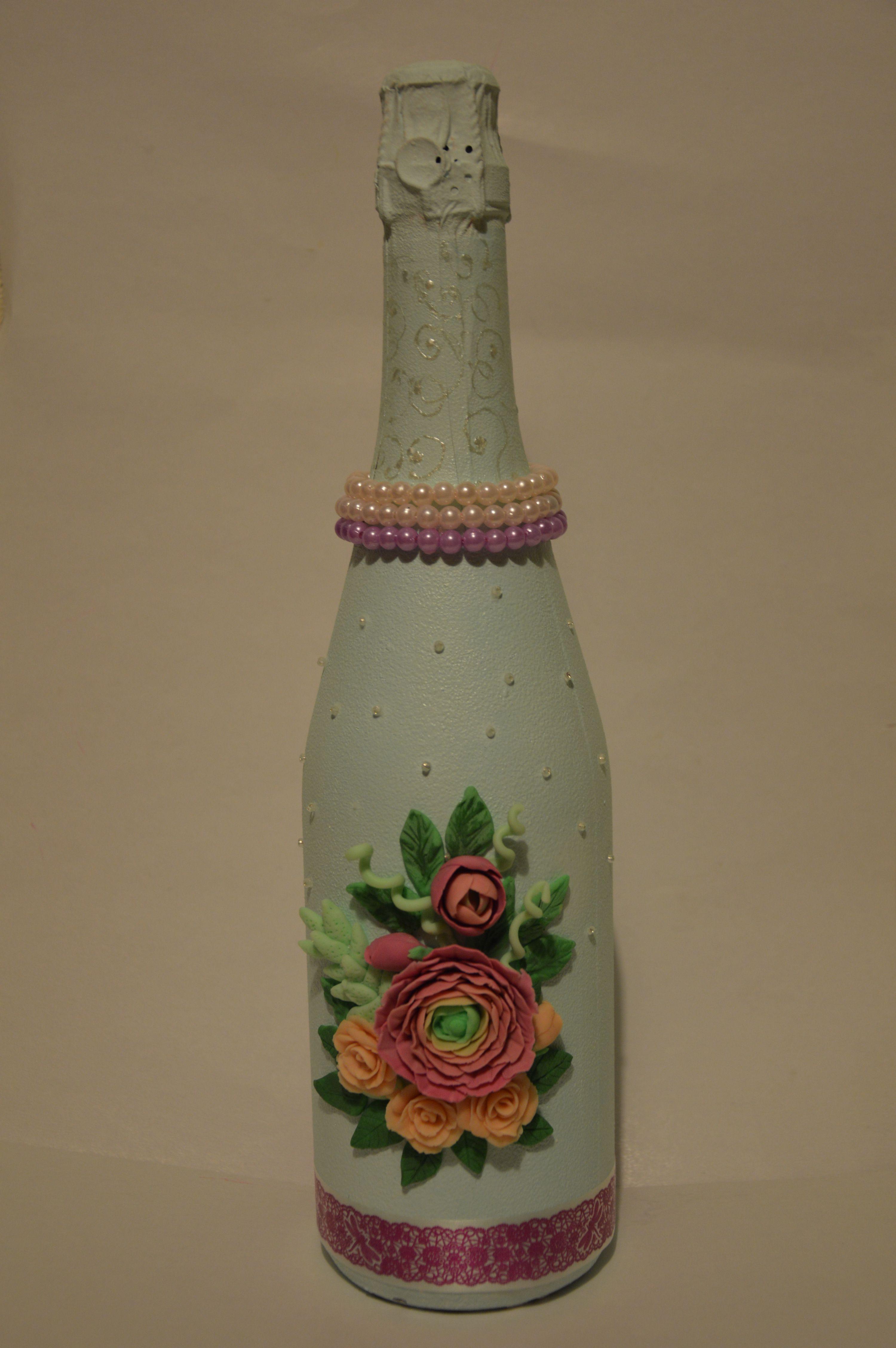 бутылкашампанского свадьба праздник розы 8марта полимернаяглина красота