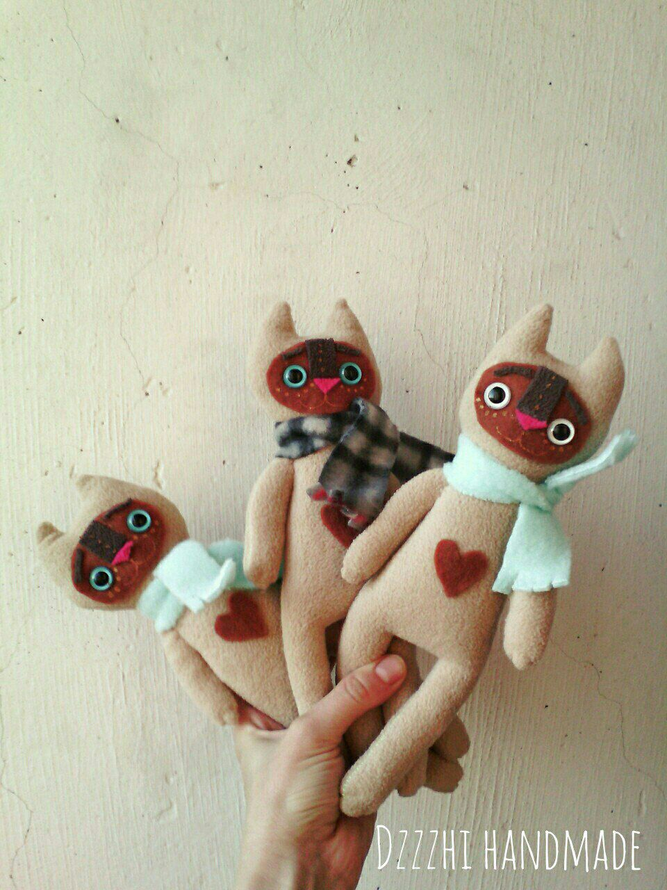 чудик флис фавн котенок подарок монстр милый игрушка кот сиамский
