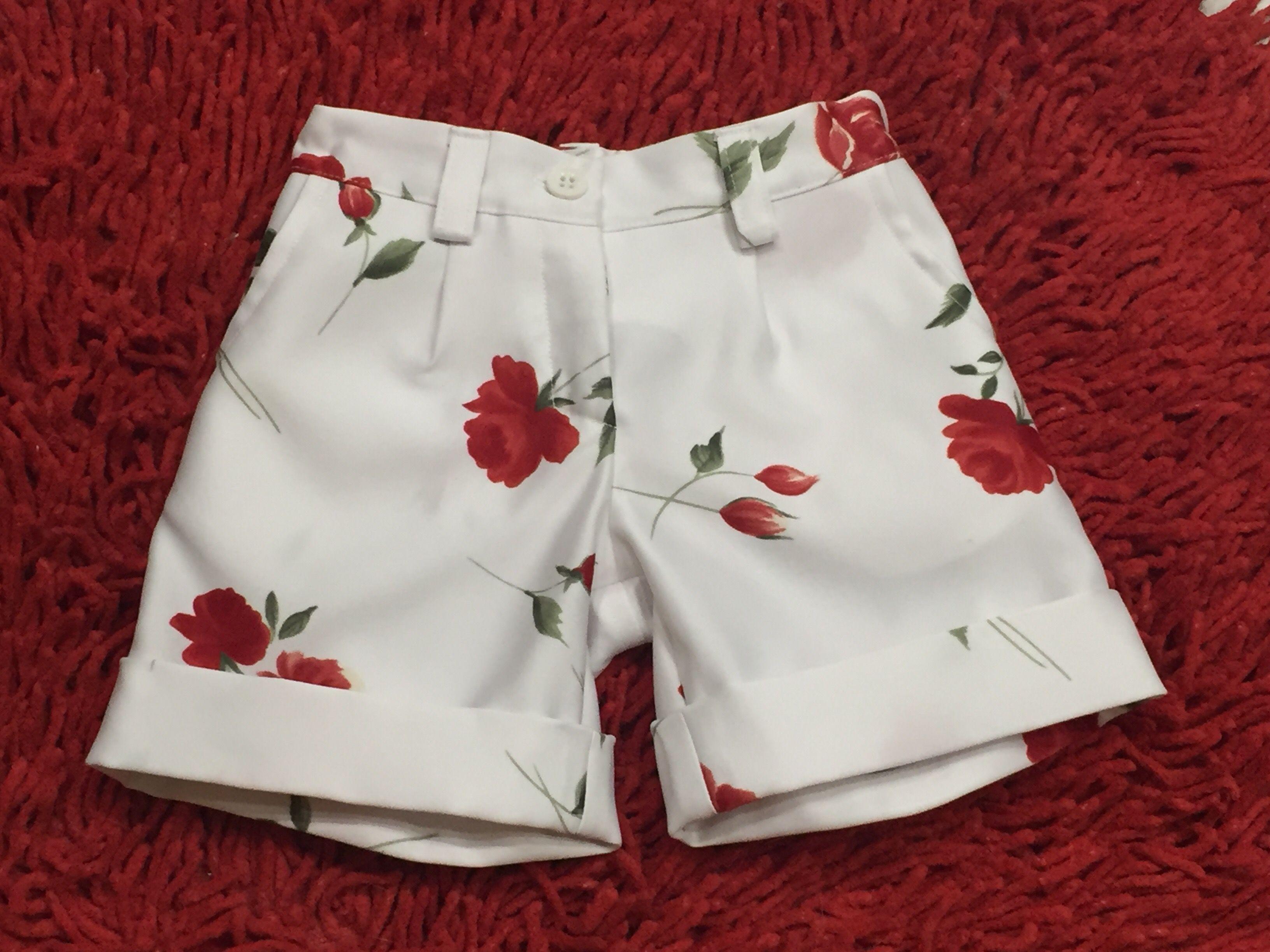 одежда красота шорты лето цветы дети