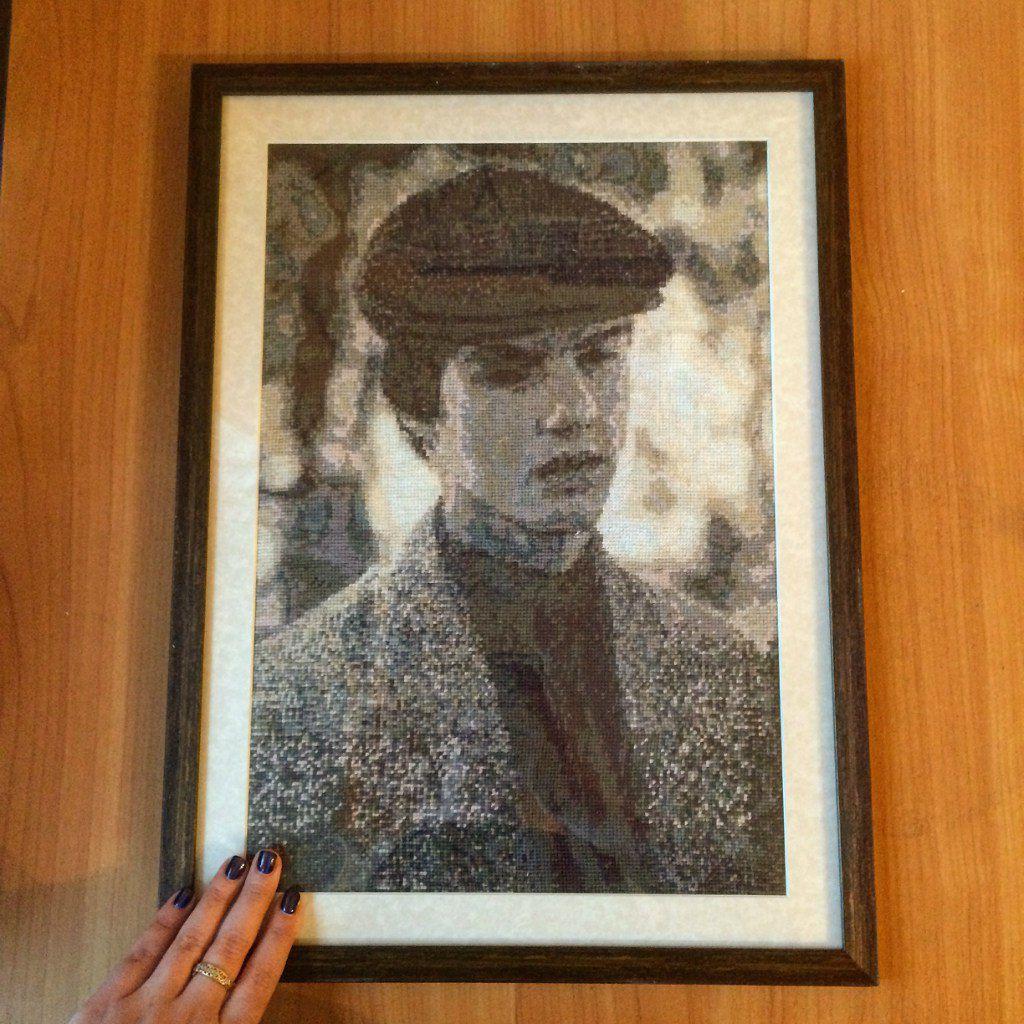 ручнаяработа вышивка портрет вышивкапофото