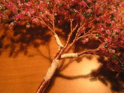 Деревья из бисера мастер класс 10