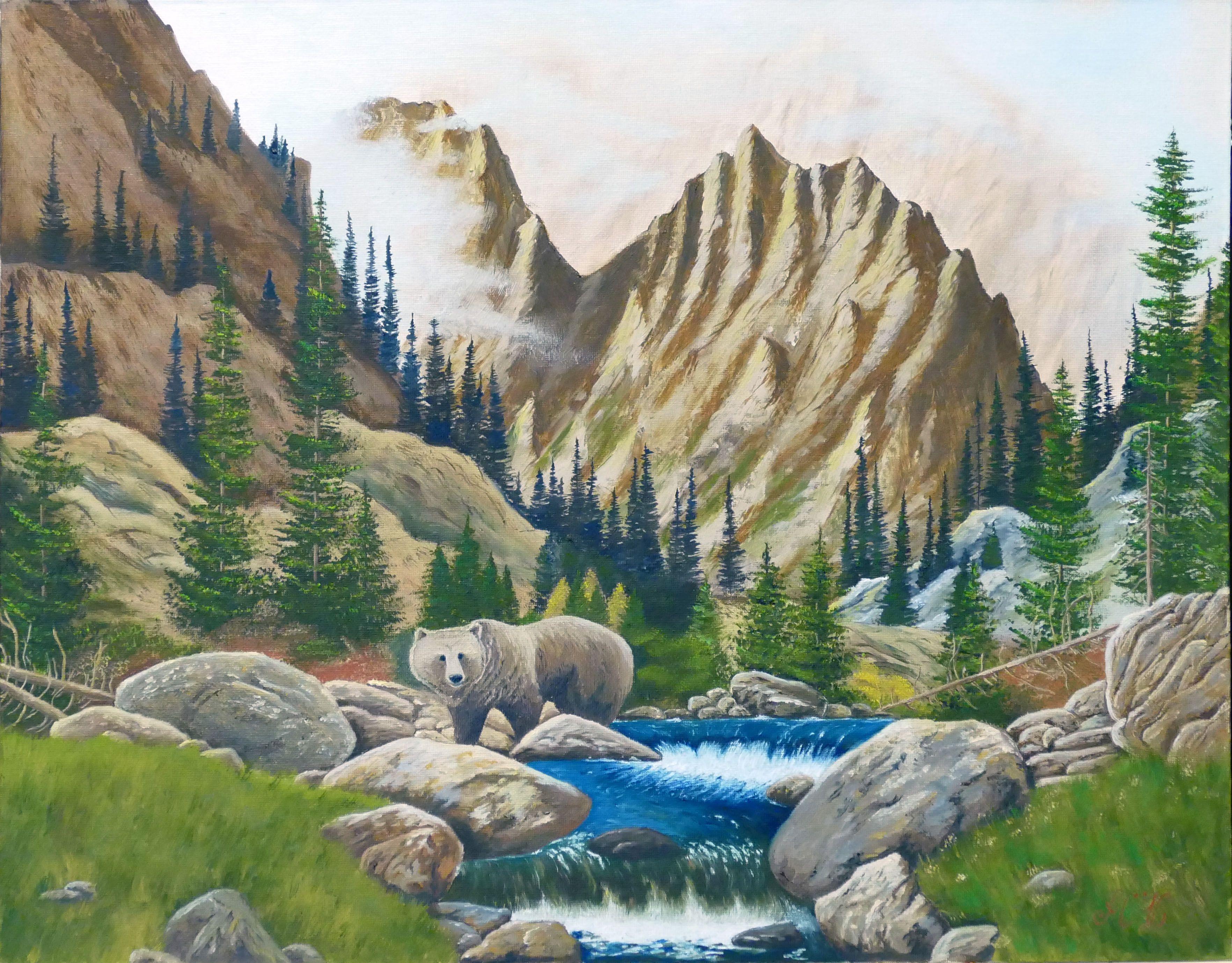 анимализм пейзаж маслом живопись картина