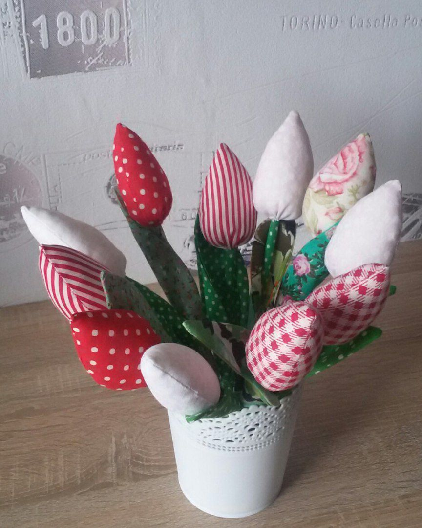 букет цветы тильда тюльпан