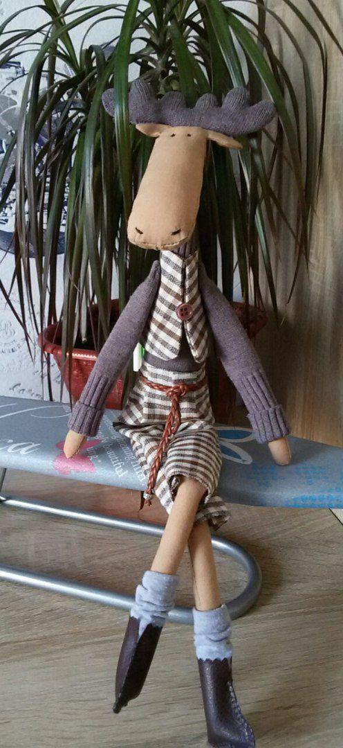 ребенок лось игрушка кукла тильда дети