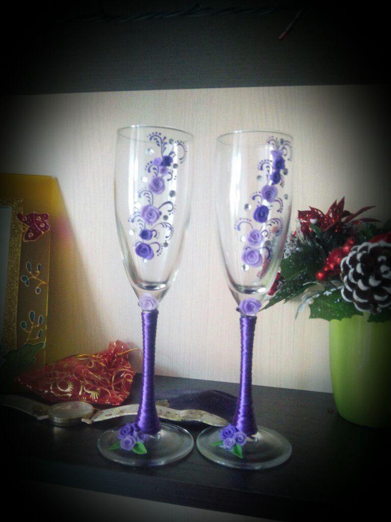 шампанское бокалы подарки брак украшениядлямашины букет свадьба