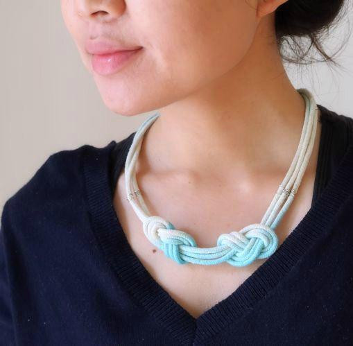поделка мастеркласс украшения макраме ожерелье красиво