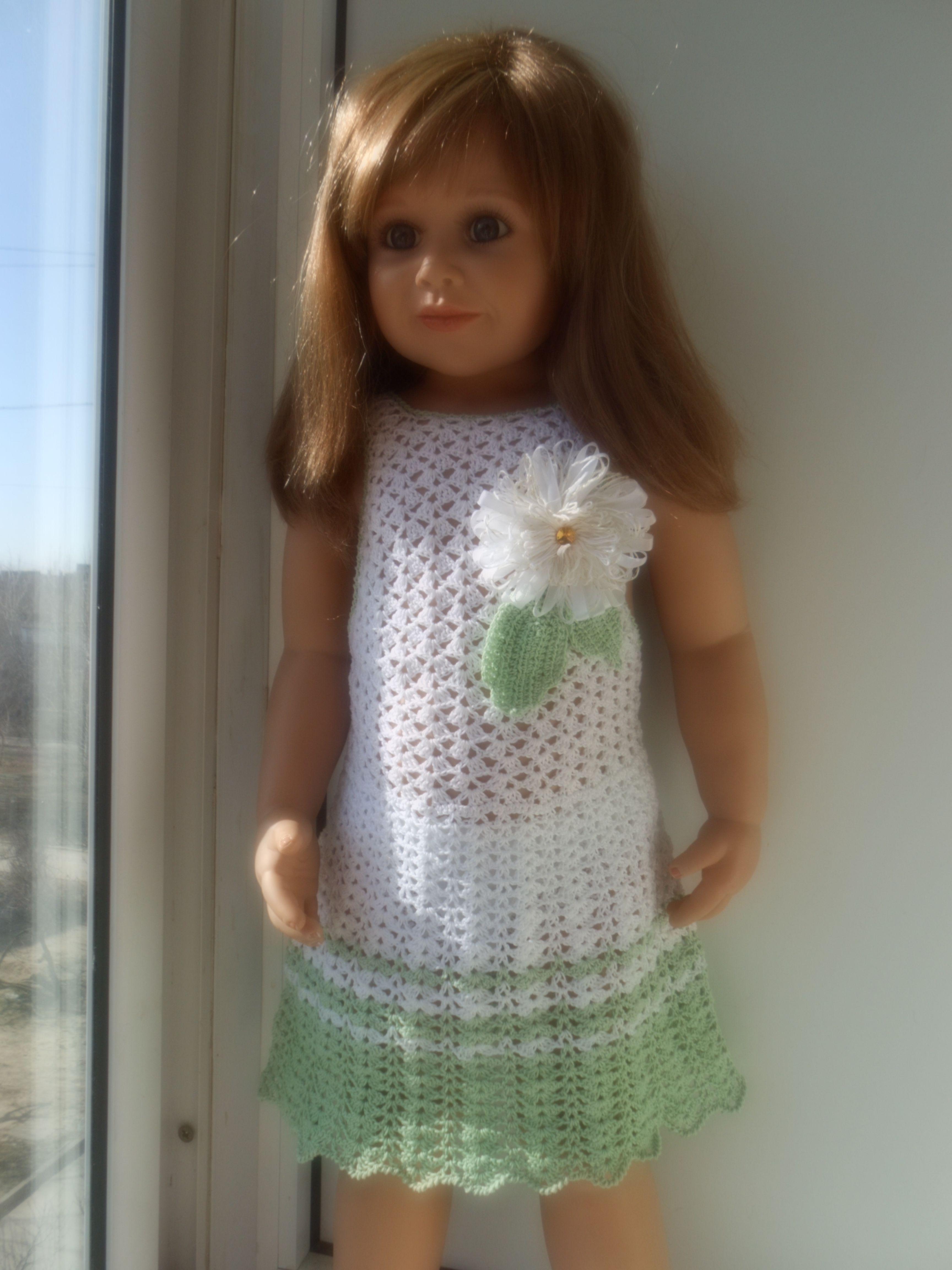 крючком летний сарафан детский детская мода вязание