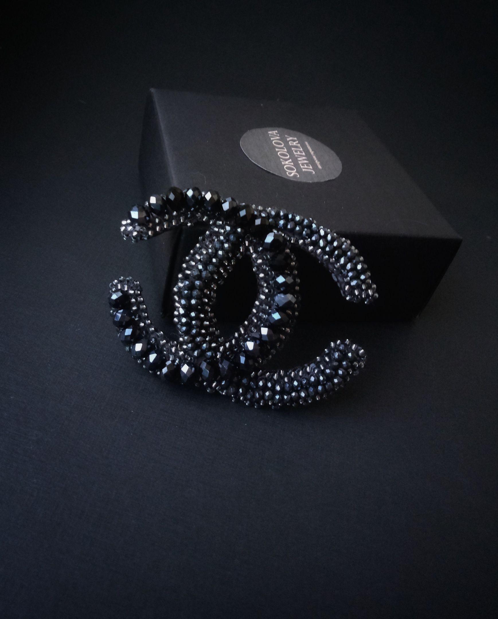женщине подарок брошь украшение шанель handmade brooch beads jewelry chanel