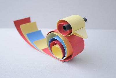 Поделки из цветной бумаги 4