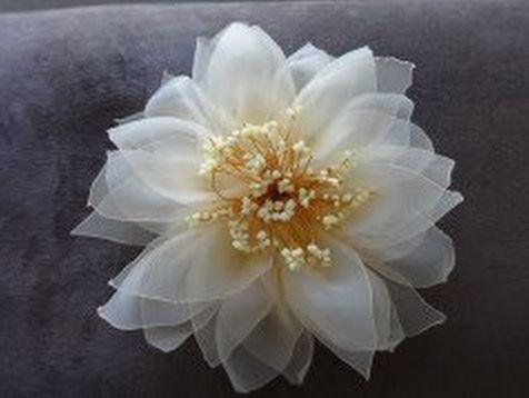 органзы из руками цветы своими
