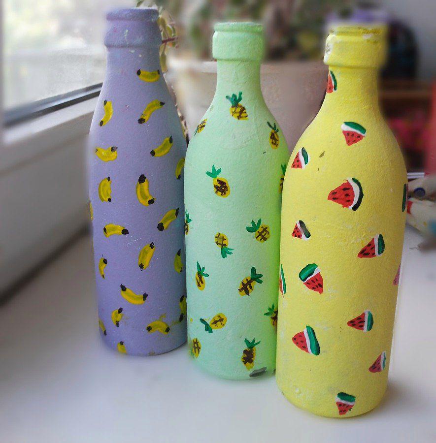руками подарок декор бутылок своими