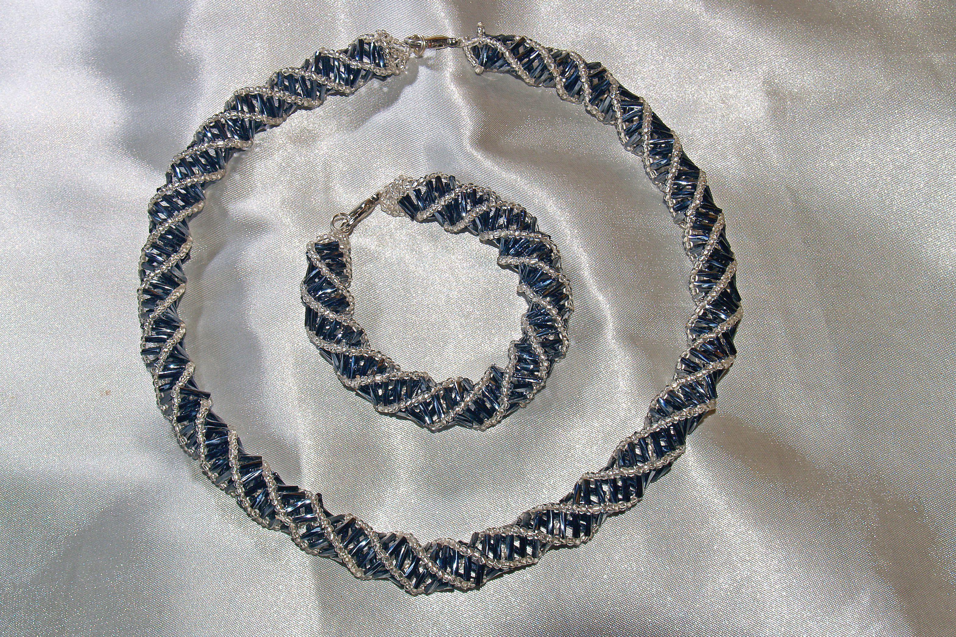 украшения бисер браслет бижутерия ручнаяработа комплект колье подарок